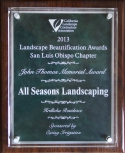 All Seasons Landscaping awards 1