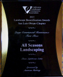 All Seasons Landscaping award 2
