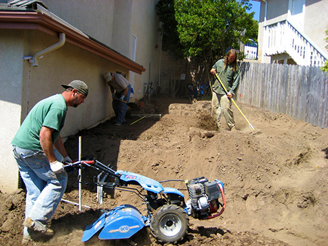 All Seasons Landscaping installation process