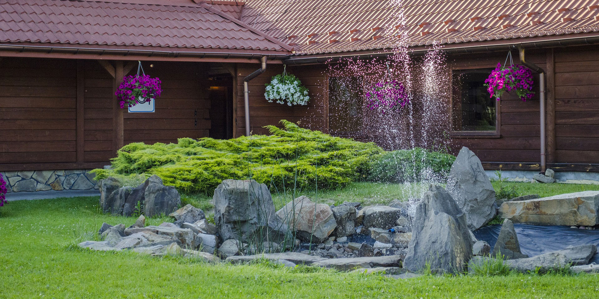 Water features not only visually improve your landscaping, they are often functional as well!